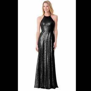 Black Full sequin gown